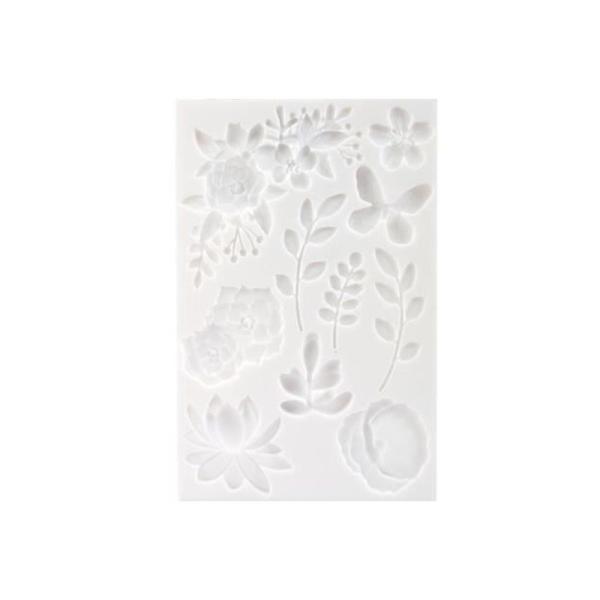 Moule en silicone pour pâte polymère - Floral - 20 x 13 cm - Photo n°2