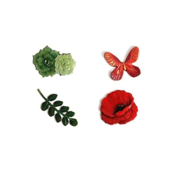 Moule en silicone pour pâte polymère - Floral - 20 x 13 cm - Photo n°3