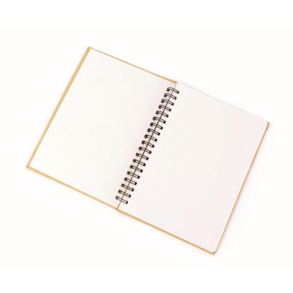 Carnet kraft à spirales - Papier blanc pointillé - 18 x 13 cm - Photo n°2