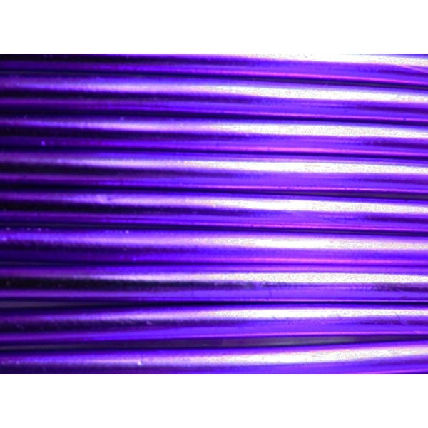 5 Mètres fil aluminium lilas 3mm - Photo n°1