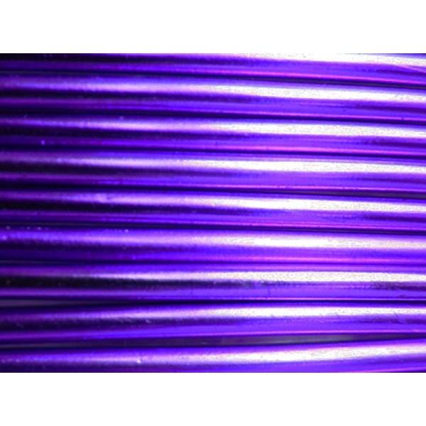 10 Mètres fil aluminium lilas 3mm - Photo n°1
