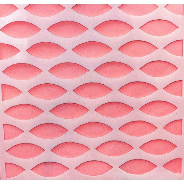 POCHOIR PLASTIQUE 13*13cm : motif fantaisie (69) - Photo n°1