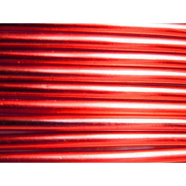 1 Mètre fil aluminium rouge 3mm - Photo n°1