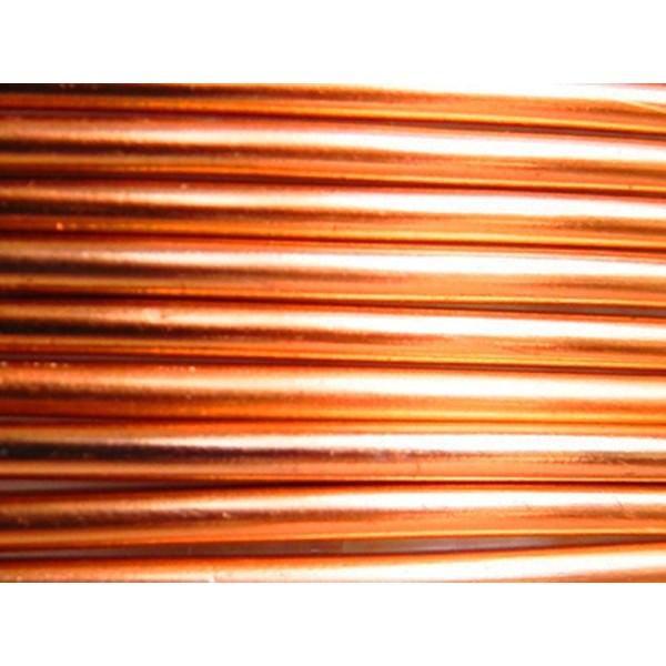 5 Mètres fil aluminium plat strié safran 5mm