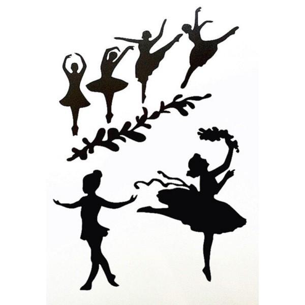 POCHOIR PLASTIQUE 30*21cm : danseuse (04) - Photo n°1