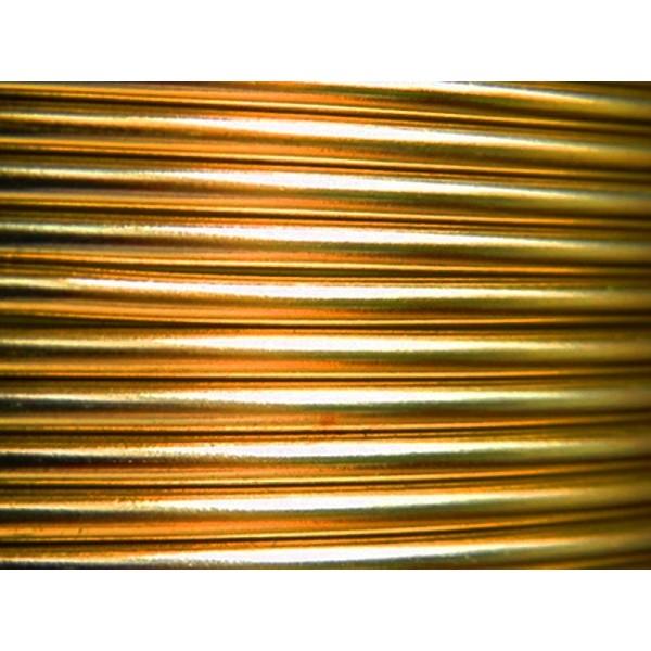 10 Mètres fil aluminium or 3mm - Photo n°1