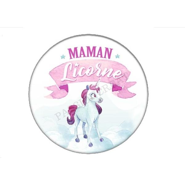 2 Cabochons Maman Licorne 25mm - Photo n°1