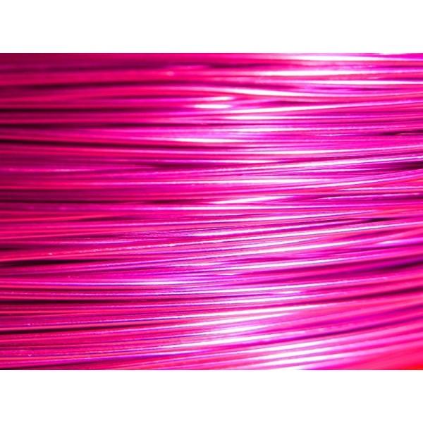 370 Mètres fil aluminium rose vif 0.8 mm - Photo n°1