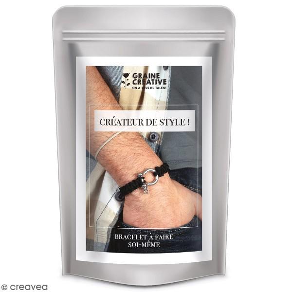 Kit DIY bracelet homme - noir - 1 pce - Photo n°1