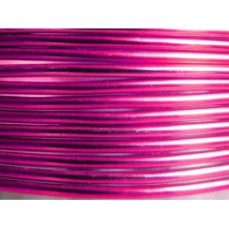 100 Mètres fil aluminium rose vif 1,5mm