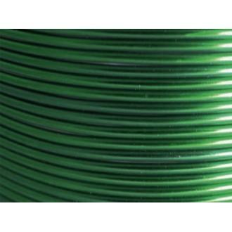 100 Mètres fil aluminium vert foncé 1,5mm