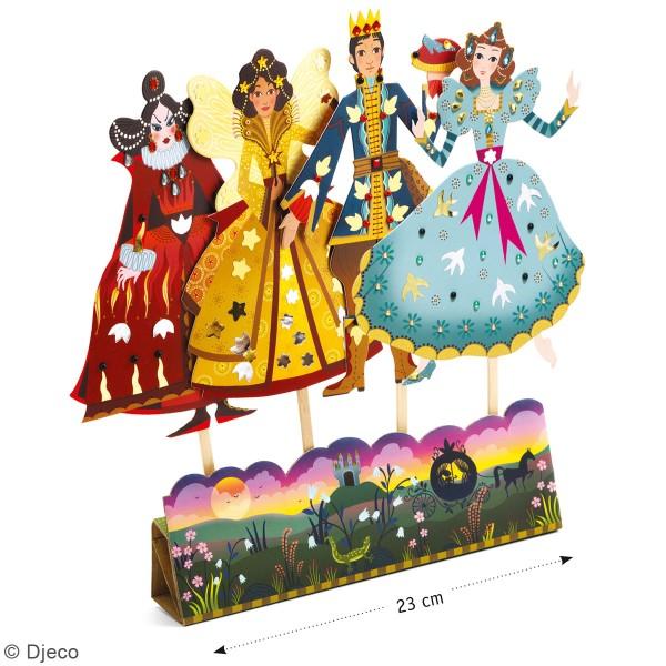 Kit Do it Yourself - Marionnettes à décorer - Cendrillon - 4 pcs - Photo n°2