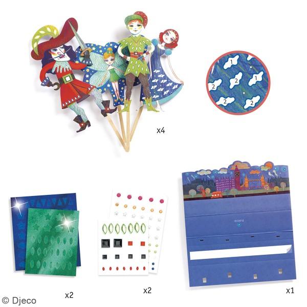 Kit Do it Yourself - Marionnettes à décorer - Cendrillon - 4 pcs - Photo n°4