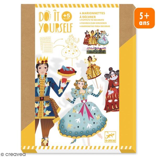 Kit Do it Yourself - Marionnettes à décorer - Cendrillon - 4 pcs - Photo n°1