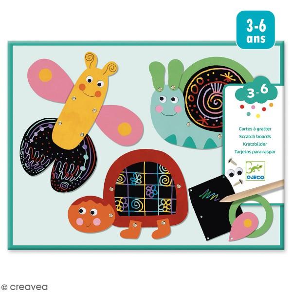 Kit Cartes à gratter - Animaux rigolos - 5 pcs - Photo n°1