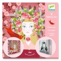 Djeco Petits Cadeaux - Tableaux duos - Princesses - 4 pcs