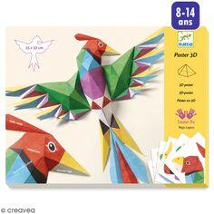 Djeco Petits Cadeaux - Poster 3D - Oiseau tropical - 55 x 53 cm