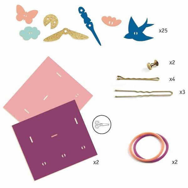 Kit Bijoux Artistic Plastic Djeco - Accessoires de coiffure - Photo n°2