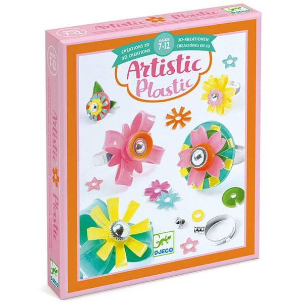 Kit Bijoux Artistic Plastic Djeco - Collection de bagues - Photo n°1