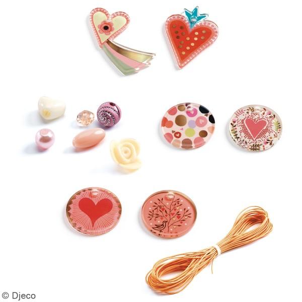 Kit bijoux Djeco - Perles fantaisies - Coeurs - 286 pcs - Photo n°2