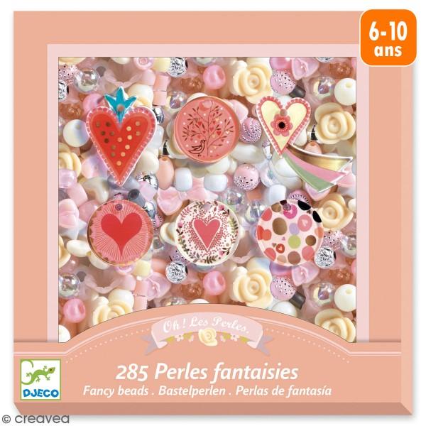 Kit bijoux Djeco - Perles fantaisies - Coeurs - 286 pcs - Photo n°1
