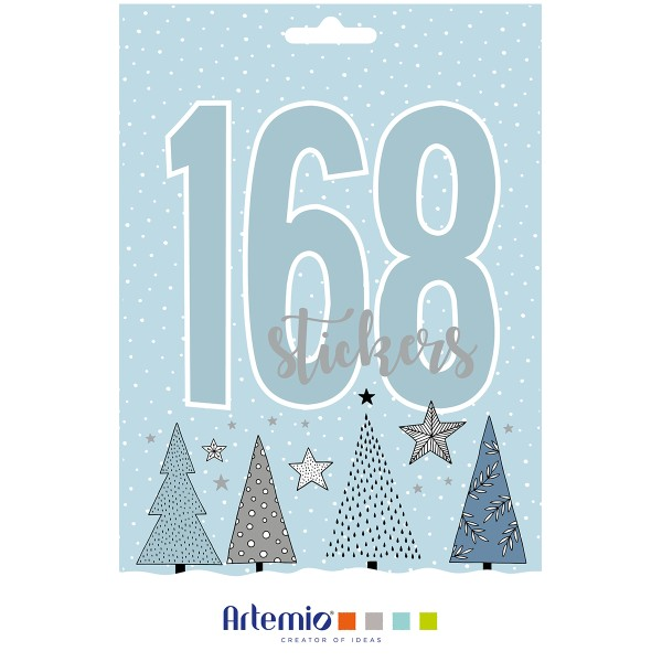 Carnet de Stickers - Noël Cosy - 168 pcs - Photo n°1