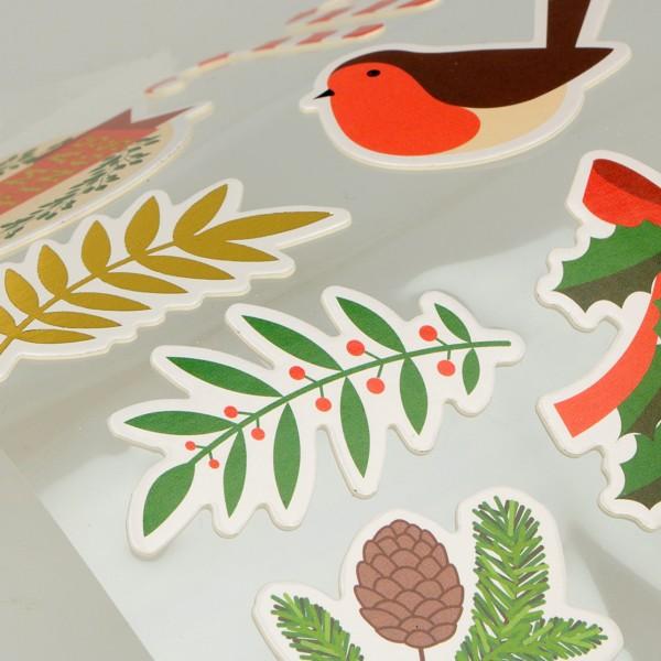 Stickers fantaisie cartonnés - Joyeux Noël - 26 pcs - Photo n°2