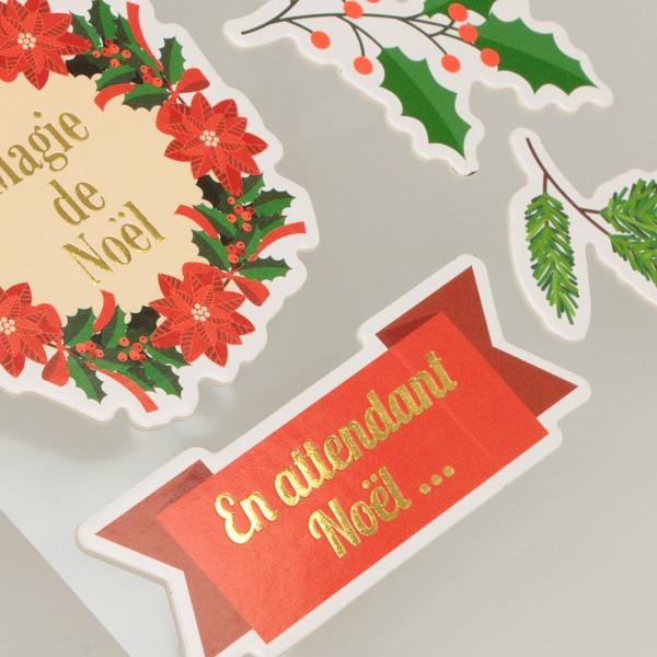 Stickers fantaisie cartonnés - Joyeux Noël - 26 pcs - Photo n°3