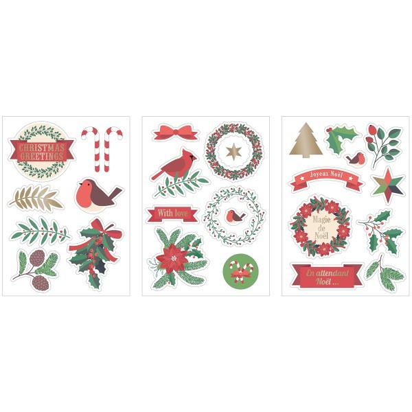 Stickers fantaisie cartonnés - Joyeux Noël - 26 pcs - Photo n°4