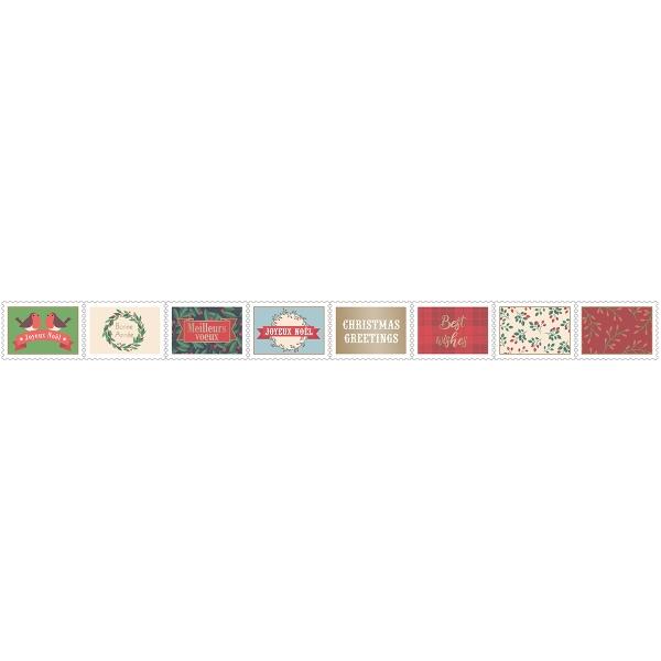 Stickers Timbre - Joyeux Noël - 80 pcs - Photo n°2