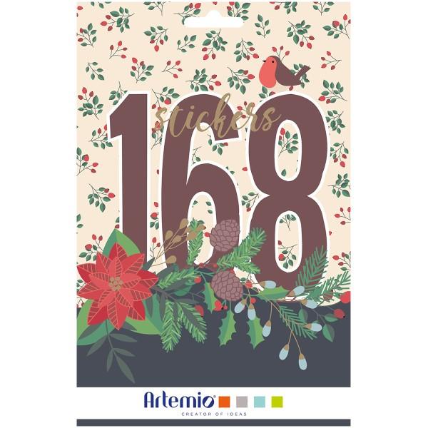 Carnet de Stickers - Joyeux Noël - 168 pcs - Photo n°1