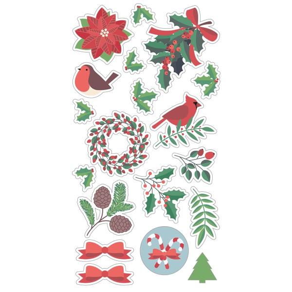Stickers Puffies Joyeux Noël - 19 pcs environ - Photo n°2