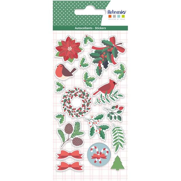Stickers Puffies Joyeux Noël - 19 pcs environ - Photo n°1
