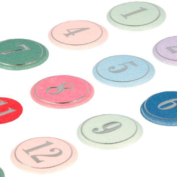 Stickers Puffies Calendrier de l'Avent - Il était une fois - 24 pcs environ - Photo n°3