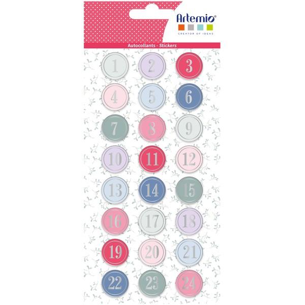 Stickers Puffies Calendrier de l'Avent - Il était une fois - 24 pcs environ - Photo n°1
