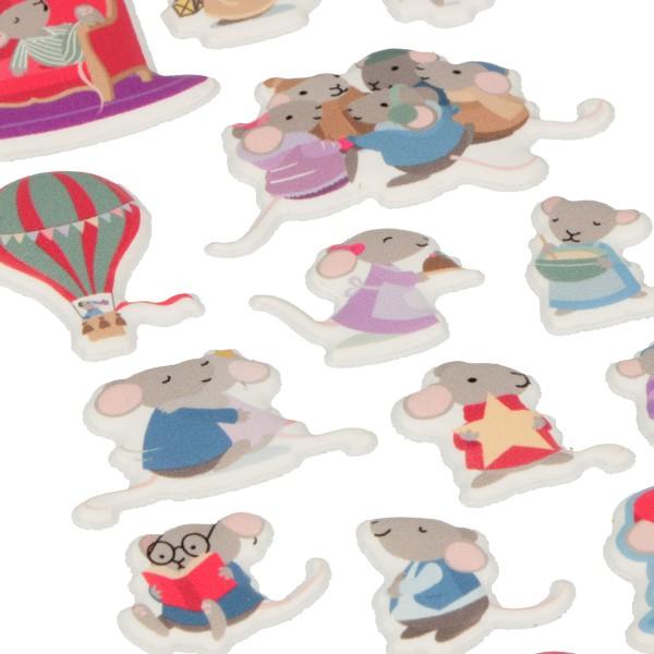 Stickers Puffies Souris et Noël - 16 pcs environ - Photo n°2