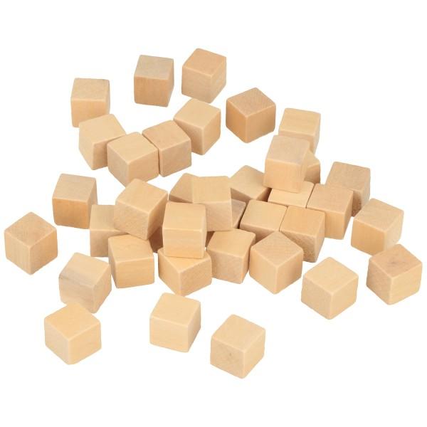 Lot de mini cubes en bois - 12 mm - 72 pcs - Photo n°2
