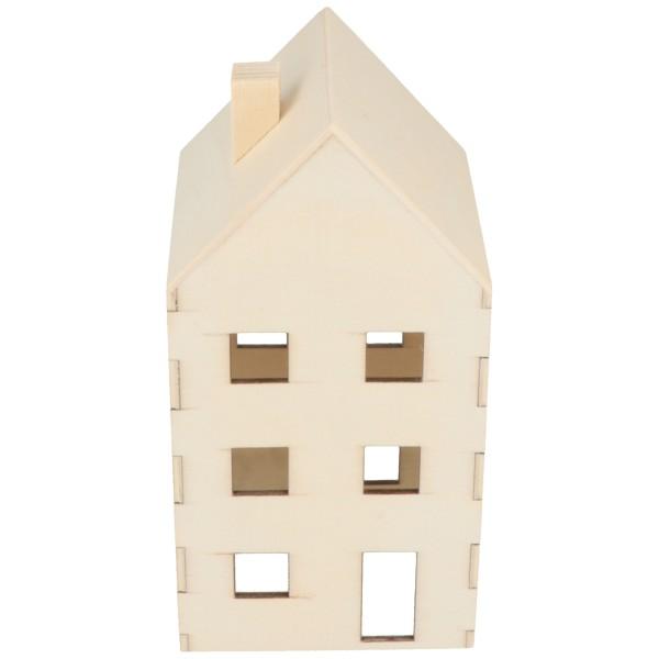 Maison en bois à décorer - 3 pcs - Photo n°4