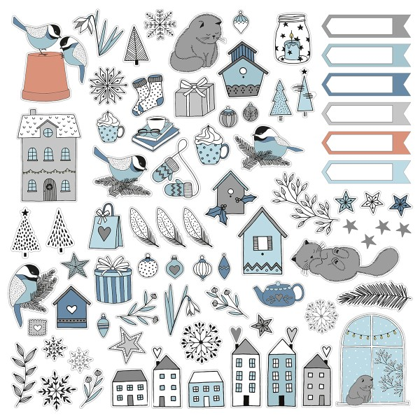 Die Cut Artemio - Hiver Cosy -  pcs - Photo n°3