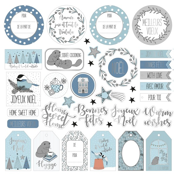 Die Cut Artemio - Hiver Cosy -  pcs - Photo n°4