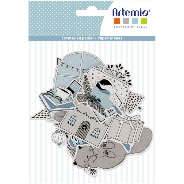Die Cut Artemio - Hiver Cosy -  pcs - Photo n°1