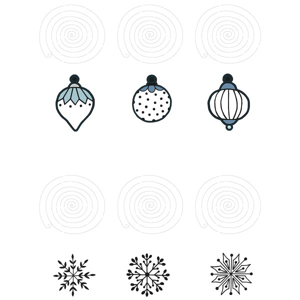 Kit Déco de Noël à suspendre - Paillettes - 6 pcs - Photo n°4