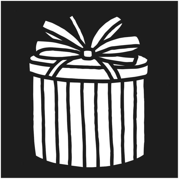 Assortiment de pochoirs de Noël - 9 x 9 cm - 12 pcs - Photo n°2