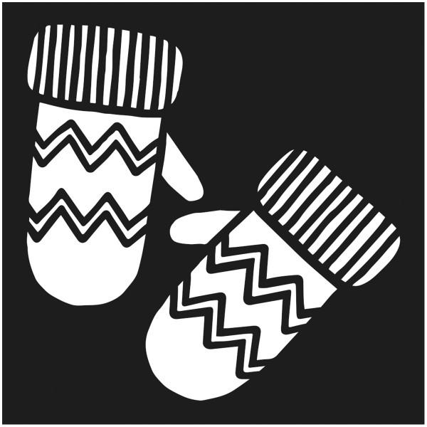 Assortiment de pochoirs de Noël - 9 x 9 cm - 12 pcs - Photo n°5