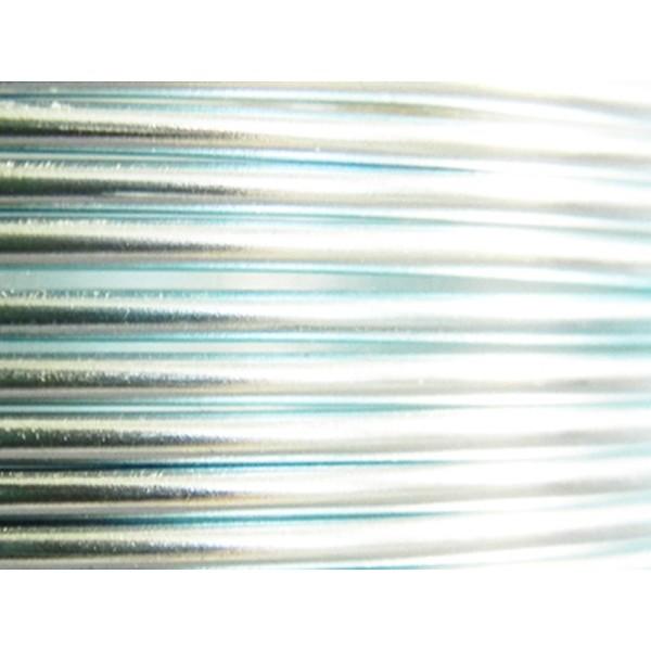 25 Mètres fil aluminium bleu glacé 3mm - Photo n°1