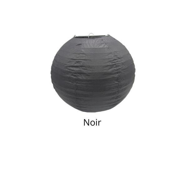 Lampion en papier de soir de 25 cm de diametre noir - Photo n°1
