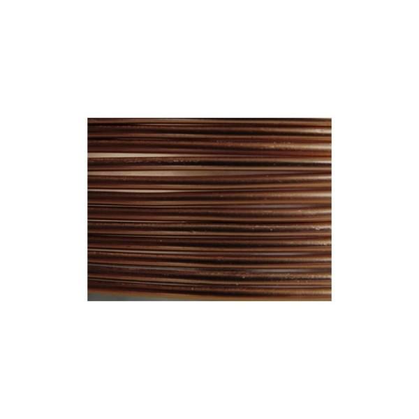 2 Mètres fil aluminium chocolat mat 2mm - Photo n°1