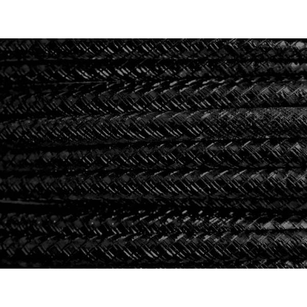 1 Mètre fil aluminium gravé couleur noir 4mm - Photo n°1