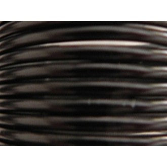 10 Mètres fil aluminium noir 4mm