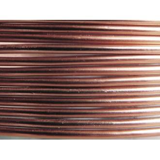 1 Mètre fil aluminium marron clair 2mm